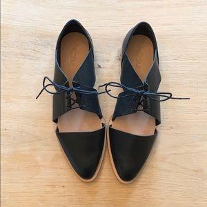 NWT Loeffler Randal cutout tie loafers size 8.5